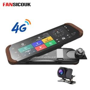 4G coche Dvr 10 ''Cámara Dash ADAS GPS Bluetooth 1080P visión nocturna con regla Monitor remoto grabadora cámara de visión trasera 786M