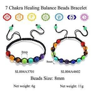 Image 5 - 7 Chakraสร้อยข้อมือHealing Balanceลูกปัด8มม.Reikiหินธรรมชาติสร้อยข้อมือผู้หญิง