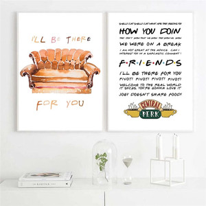 Friends TV Show Poster Quotes Canvas Art Painting Print Central Perk Poster Wall Art Pictures Dormitory Bedroom Decor No Frame
