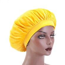 Velvet Bonnet Head-Wraps Premium Wholesale Beanie-Hat Sleep-Cap Hair-Loss Large Women