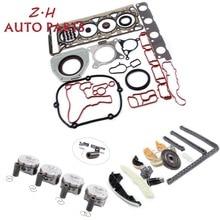 NEW Engine Piston Chain Tensioner Guide Hasket Seal Kit For VW Passat Jetta Audi A4 Q5 Skoda 2.0TFSI EA888 06H107065DD Pin 23mm