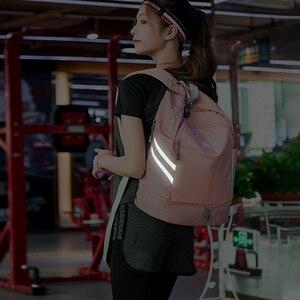 Image 2 - Women Pink Sport Gym Bag Waterproof Fitness Swimming Backpack Yoga Training Bag Shoe Compartment Travel Luggage Bag Sac De Sport