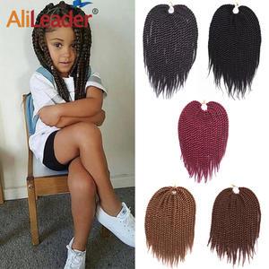 Alileader Crochet Twist Hair-Extension Braids Havana Kids Soft 22-Strands/pcs for 12-Inches