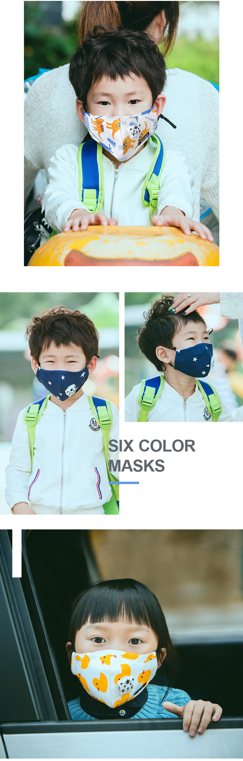 Children masks 1Pcs Respirator Mask With Breathing Valve Washable Cotton Activated Carbon Filter Mouth Masks Anti Dust Allergy