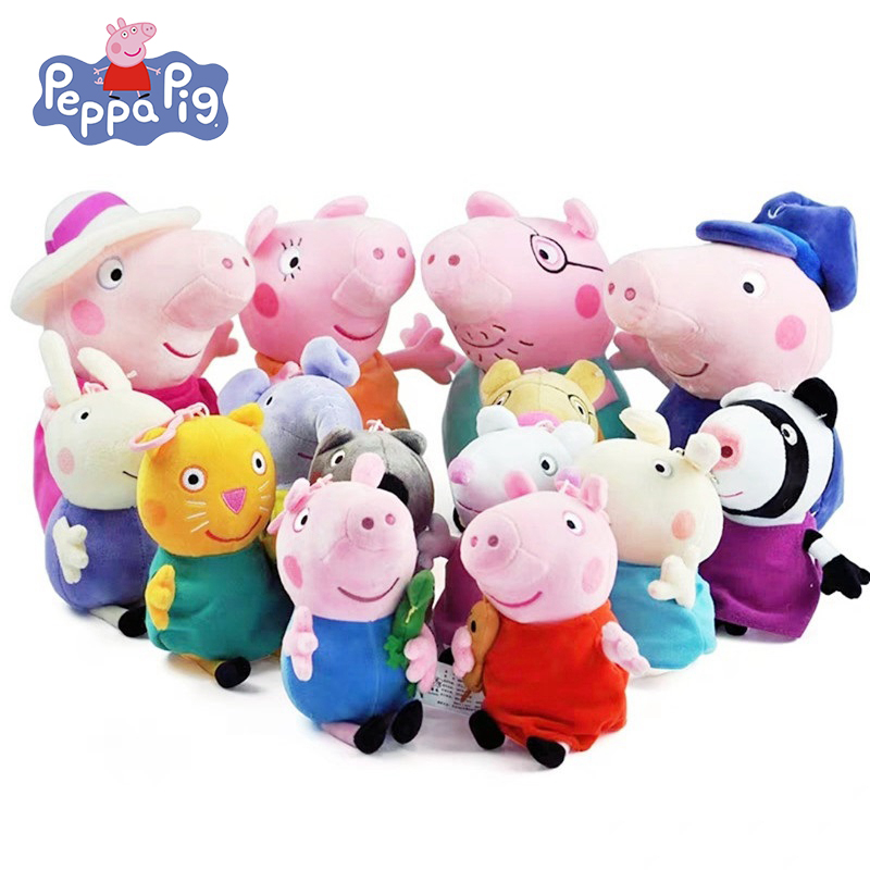 Peppa Pig 1 Pcs Cute Stuffed Plush Toy Peppa George 19cm Stuffed Doll Peppa Pig Plush Toy Children's Toys Gift No Box