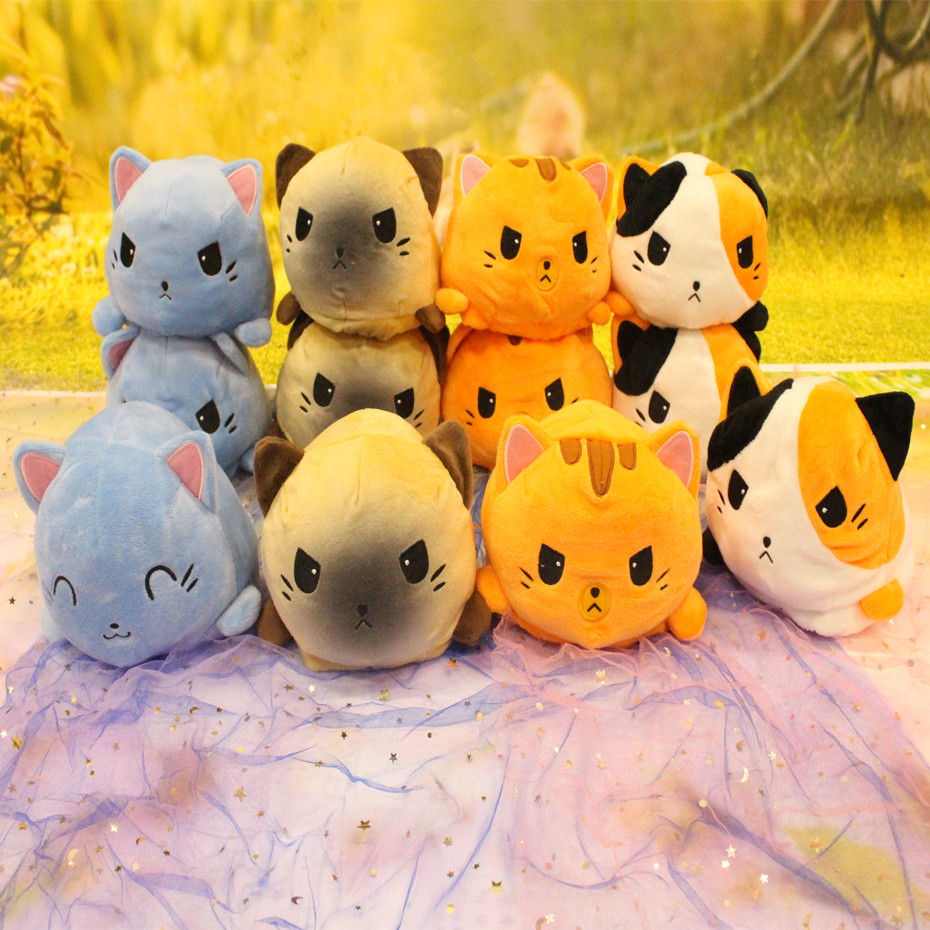 Reversible Cat Gato Kids Plushie Plush Animals Unicorn Double-Sided Flip Doll Cute Toys For Peluches For Pulpos Plush Toys
