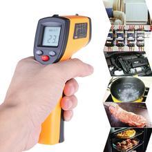 GM320 LCD dijital temassız kızılötesi termometre sıcaklık ölçer Gun  50 ~ 380 derece el lazer pirometre IR termometre