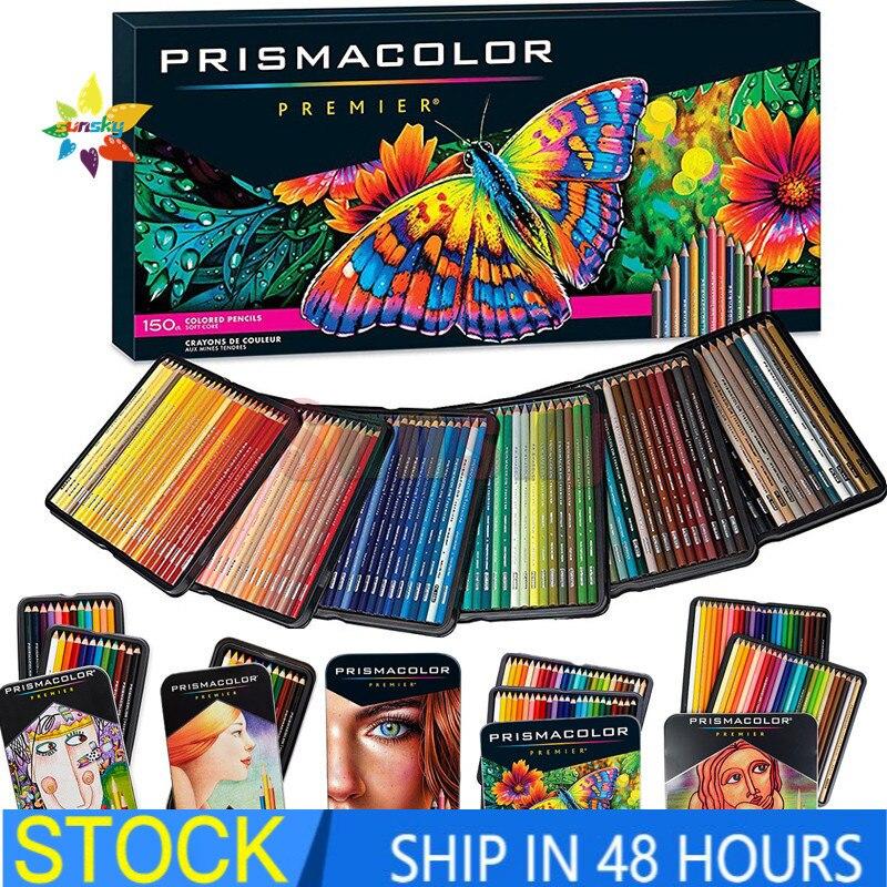 OEM prismacolor sanford 24 36 48 72 150 масляный цветной карандаш эскиз цветной карандаш искусство школьные принадлежности секретный садовый карандаш 4,0 мм ...