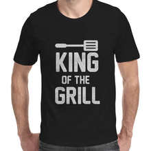 Barbecue T-Shirt King Of The Grill Funny Mens Tee Cotton T-Shirt Gift Cooking BBQ Chef Barbecue Grill Funny Men's T-Shirt-C120(China)