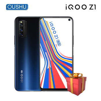 Original vivo IQOO Z1 5G Celular MediaTek 1000Plus 6GB 128GB Fingerprint+Face ID 6.57'' Pore Full Screen 44W Charging Cellphone