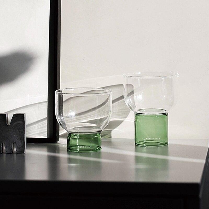 Купить водяные чашки вина цвет зеленый оранжевый Смотреть сквозь выстрел в северном стиле прозрачные чашки Taza Kubek Whiskey Szklanki