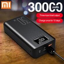 Xiao mi QC 3,0, Дополнительный внешний аккумулятор, 30000 мА/ч, два USB, портативное зарядное устройство, литий-полимерный аккумулятор, Аксессуары для мобильных телефонов, для Xiaomi mi, Iphone, LG