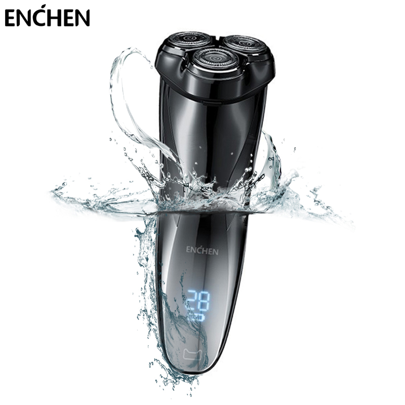 ENCHEN Blackstone3 Men Electric Shaver Razor LCD Power Display Rechargeable Electronic Razor IPX7 Waterproof Full Body Washable