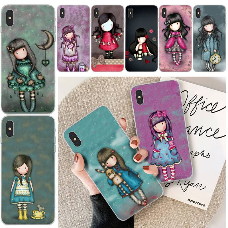 Cartoon Lovely Santoro Gorjuss TPU Phone Case Cover For iphone 6 6s plus 7 8 plus X XS XR XS MAX 11 11 pro 11 Pro Max Cover(China)