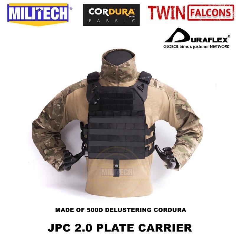 MILITECH  JPC 2.0 PLATE CARRIER TACTICAL VEST DELUSTERING CORDURA VEST