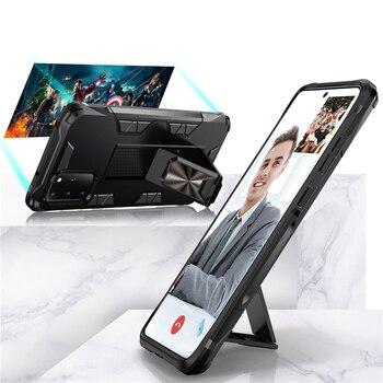 Funda de teléfono magnética a prueba de golpes para Samsung Galaxy S20 Plus S10 S9 S8 Note 20 Ultra 10 9 8 S20Plus S9Plus S10E, funda con soporte