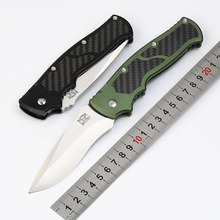 High Quality M2 folding knife D2 blade carbon fiber aluminum handle camping survival outdoor knife EDC Tactical Utility tools все цены
