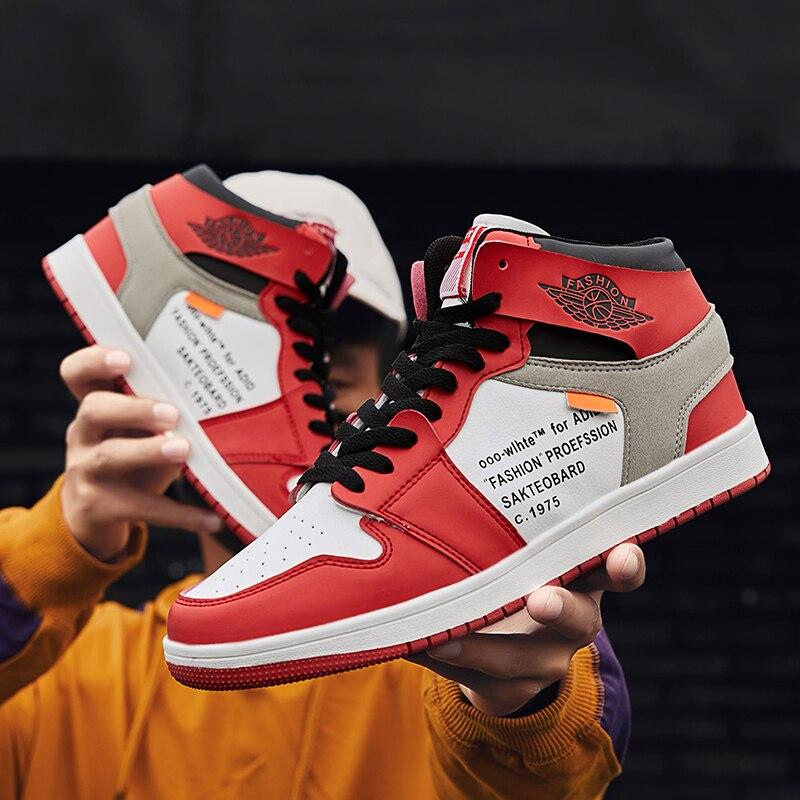 ¡Nuevo verano 2019! Zapatos deportivos de gran calidad 38-45 para hombre de tendencia casual de moda para jóvenes de calle al aire libre Zapatos de mujer de diseñador, zapatillas antideslizantes, zapatillas informales de tacón bajo, zapatos de tacón británico de madera, zapatos de tacón de verano