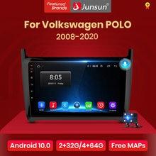 Junsun-Radio Multimedia V1Android 10 con GPS para coche, Radio con reproductor de vídeo, 2 GB + 32 GB, DSP, 2 din, SIN dvd, para VW, Volkswagen, POLO, 2003-2012