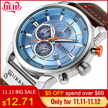 CURREN Clock Wrist-Watch Chronograph Army Male Sports Top-Brand Relogio Masculino Luxury