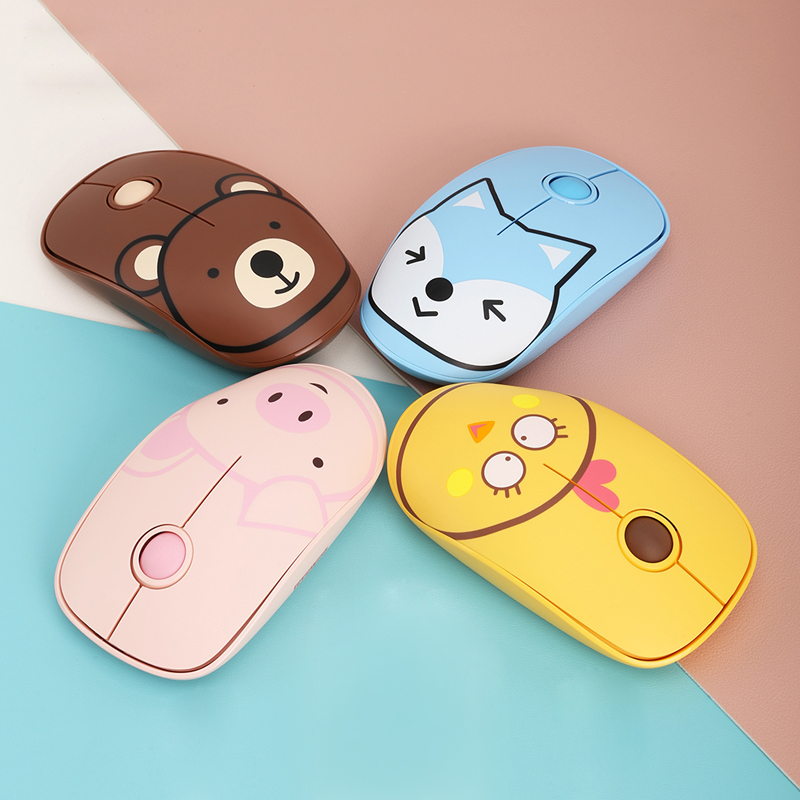 Cute Silent Wireless 2.4Ghz Mouse And Pad For Girls /Children, Quality Optical Mouse  Ergonom For Laptop/Computer With USB Port