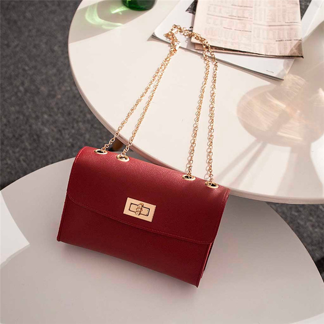 British Fashion Simple Small Square Bag Women's Designer Handbag 2019 High-quality PU Leather Chain Mobile Phone Shoulder bags 3
