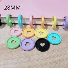Пластиковое связывающее кольцо 100 шт 28 м цветное в форме сердца