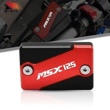 For HONDA MSX 125 Grom/SF 2013-2020 2019 2018 2017 2016 MSX125 CNC Aluminum Motorcycle Red/Black Front Brake Fluid Cap Cover