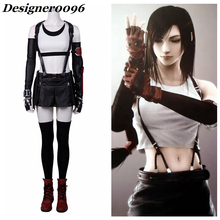 Game cosplay Hot PS4 Final Fantasy VII Remake Cosplay Costume Tifa Lockhart Complete Set Halloween From Woman Adult