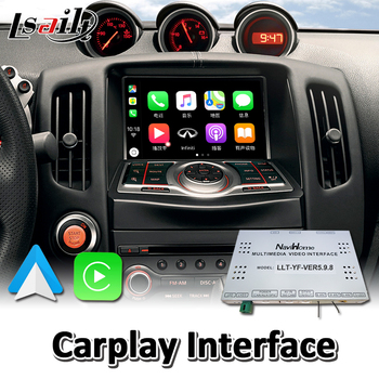 Lsailt Wireless Carplay Interface for Nissan 370Z 2010-2019 Year Wired Android Auto Youtube Video Music Play