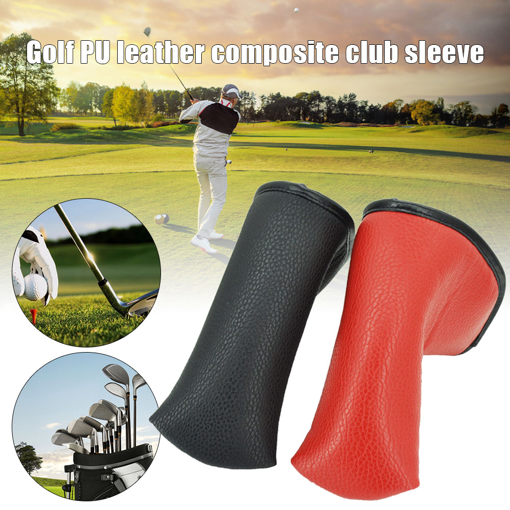 Magnetic Golf Club Head Cover PU Leather Composite Golf Iron Cap Putter Cover Protection For Golf Putter ALS88