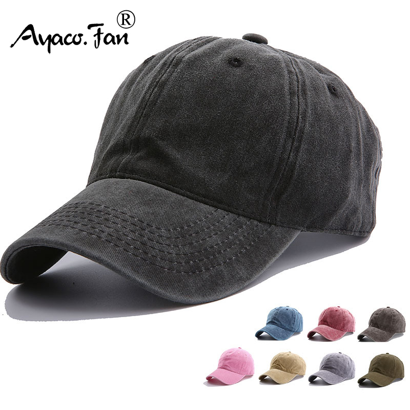 Solid Spring Summer Cap Women Ponytail Baseball Cap Fashion Hats Men Baseball Cap Cotton Outdoor Simple Vintag Visor Casual Cap