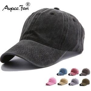 Solid Spring Summer Cap Women Ponytail Baseball Cap Fashion Hats Men Baseball Cap Cotton Outdoor Simple Vintag Visor Casual Cap(China)