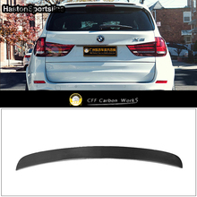 X5 F15 M Performanc Styling Carbon Fiber Car Rear Roof Wing Lip Spoiler For BMW X5 F15 2014 2017