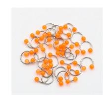 1 pcs Nose Septum Ring Lip Nipple Eyebrow Lobe Rings Hoop Horseshoe Ear Piercings for Women Men Acrylic Ball Body Jewelry