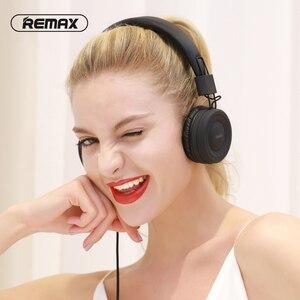 Image 2 - Remax headphone portátil com entrada aux e microfone, headset para pc, mp3, com cancelamento de ruído, fio de 3.5mm mp4