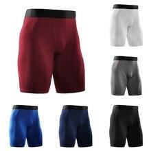 Дышащие и быстросохнущие мужские спортивные колготки для фитнеса, тренировочные шорты для бега