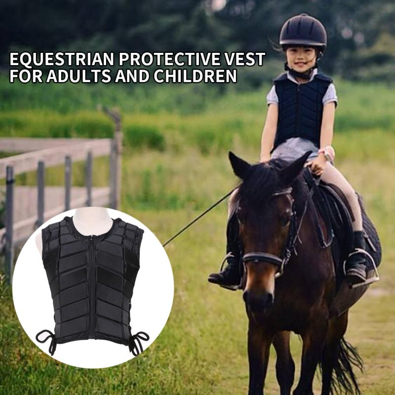 Unisex Children Body Protective Horse Riding Accessory Adult Equestrian Armor Eventer Outdoor EVA Padded Vest Sports Safety