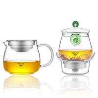 Topf Tee Wasser Teil Off Design Hohe Transparenz Borosilikat Wärme wider Glas Infusion Von Tee Wasserkocher Funktion Teekanne-in Teegeschirr-Sets aus Heim und Garten bei