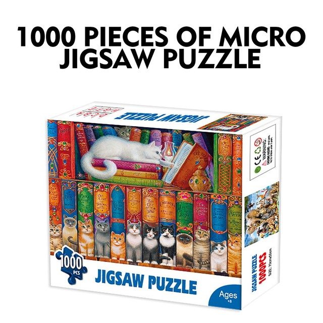 1000 Pieces Jigsaw Puzzle Children's Adult Wooden Puzzle Intelligence Educational Game Toys kids Jigsaw Puzzle toys Stickers 2