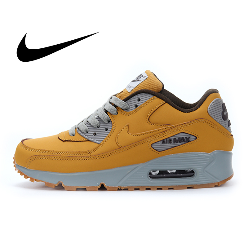 Original Authentic Nike Air Max 90 Premium Men's Running Shoes Sport Outdoor Breathable Sneakers Fashion Light Shock 683282-700