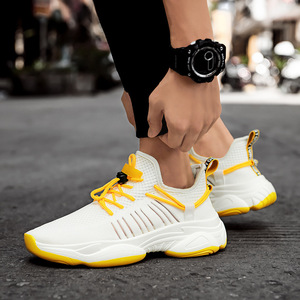 Image 4 - 2019 New Mesh Men Casual Shoes Lac up Men Shoes Comfortable Breathable Lightweight Walking Sneakers Tenis Feminino Zapatos