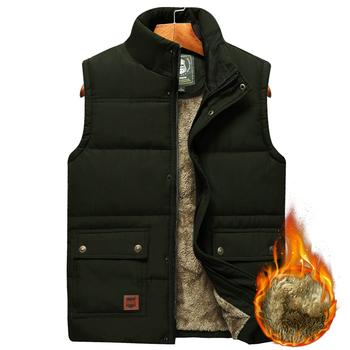 Męskie duże rozmiary odzież zimowa kamizelka kurtki bezrękawnik 2020 futro moda duży rozmiar 8xl mężczyzna ciepła kamizelka kamizelka polarowa mężczyzn tanie i dobre opinie UNION ARMY CN (pochodzenie) COTTON POLIESTER zipper 7XL 5 xl 6XL thermal NONE 100 bawełna organiczna Stałe REGULAR Szerokie w talii