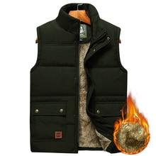Men's Large Size Clothing Winter Vest Jackets Sleeveless Coat 2020 Fur Fashion Big Size 8xl Male Warm Waistcoat Fleece Vest Men