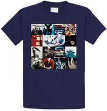 Make T Shirts MenS Short Sleeve Fashion 2018 Crew Neck U2 Achtung Baby Album Rock Band Bono Tee