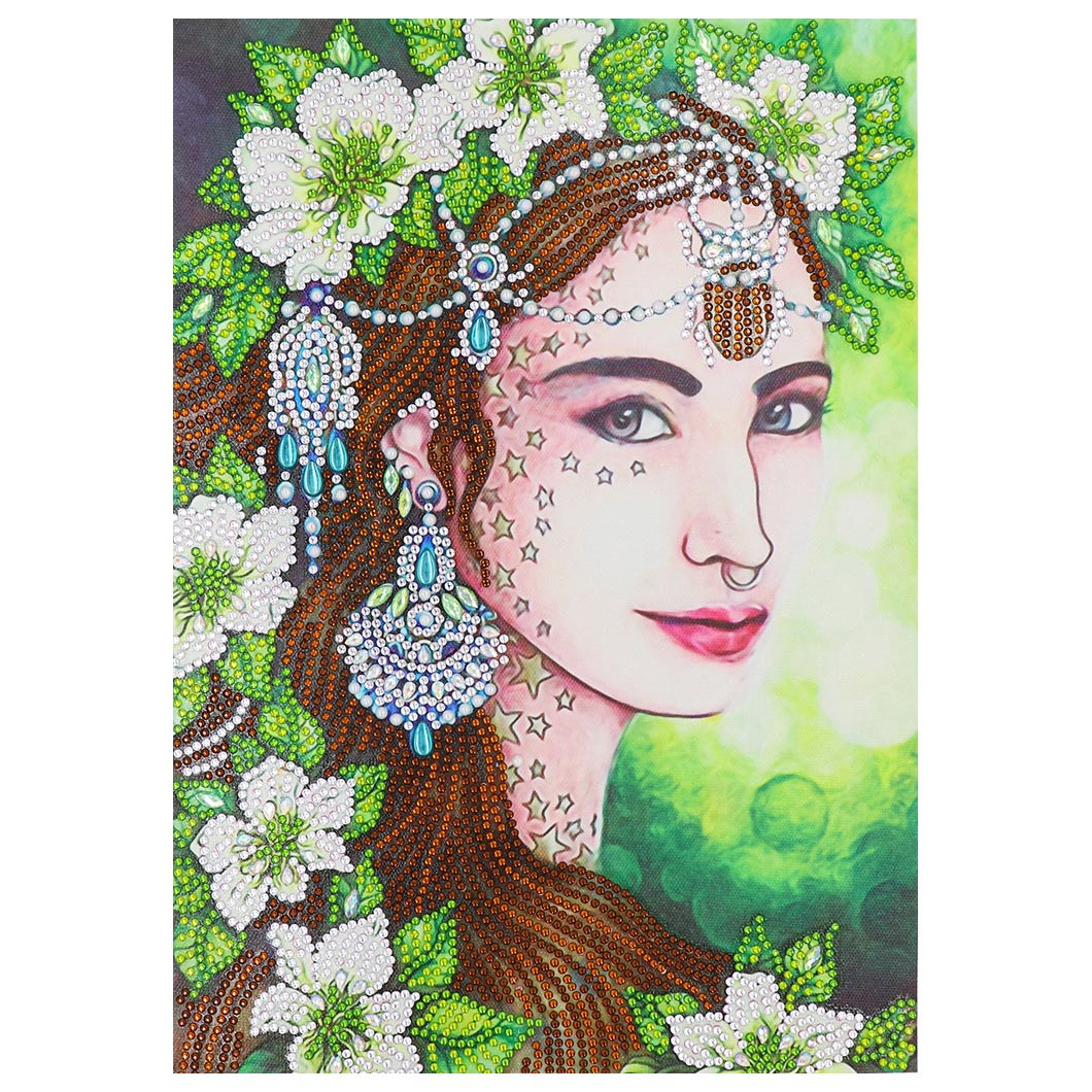 Special Shaped Diamond Painting girl 5D Partial Drill Cross Stitch Home de HI