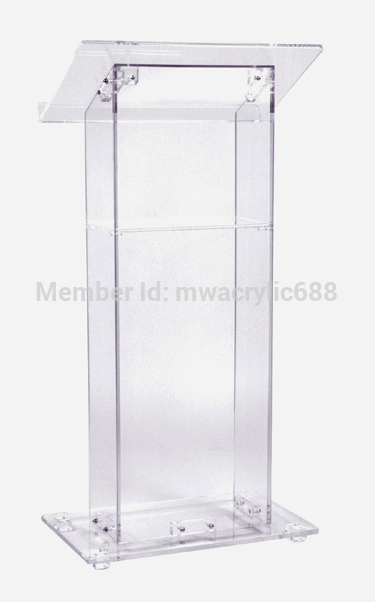 Pulpit Furniture Free Shiping Cheap Clear Acrylic Lectern Acrylic Podium Plexiglass