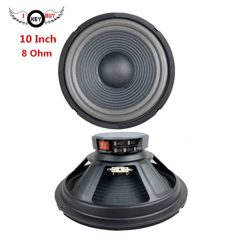 10 Inch 8 Ohm 255 Mm Threaded Paper Basin Cone Bubble Side Speaker Bass Subwoofer Square Dance KTV Home Foam Edge Loudspeaker