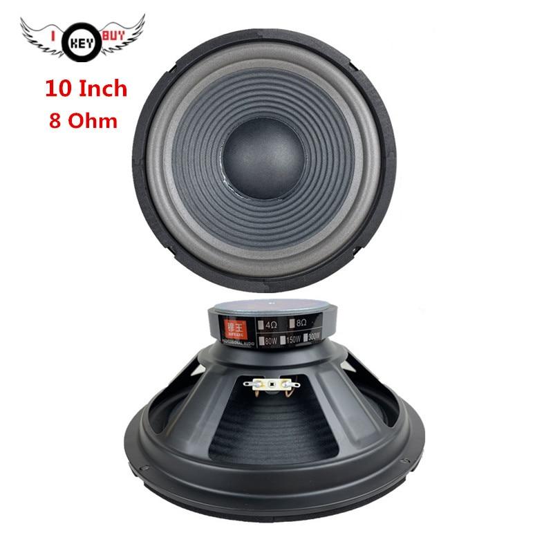 10 Inch 8 Ohm 255 Mm Threaded Paper Basin Cone Bubble Side Speaker Bass Subwoofer Square Dance KTV Home Foam Edge Loudspeaker