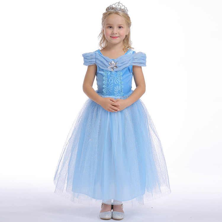 2019 Новое Стильное платье принцессы для девочек костюм на Хэллоуин торжественное платье для девочек платье в пол
